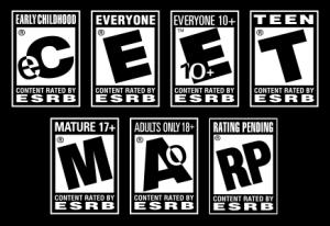 Estos son los logos que utiliza la ESRB para etiquetar todo video juego.